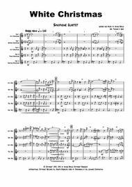 White Christmas - Bossa Nova - Saxophone Quartet