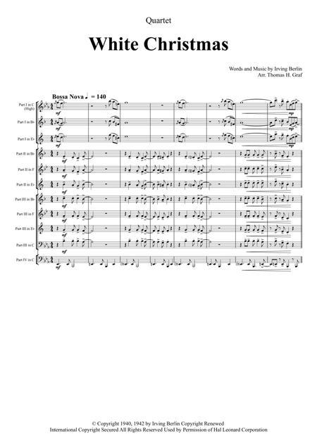Preview White Christmas Bossa Nova Brass Quartet By Irving