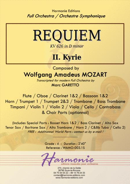 MOZART - REQUIEM K. 626 - Kyrie - Full Orchestra - SCORE & PARTS