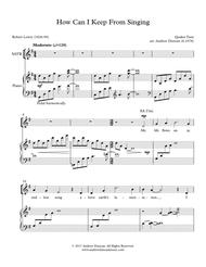 How Can I Keep From Singing - SATB and piano