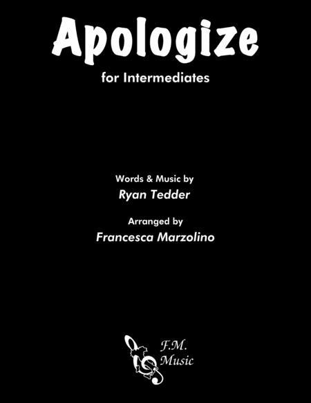Apologize (Intermediate Piano)