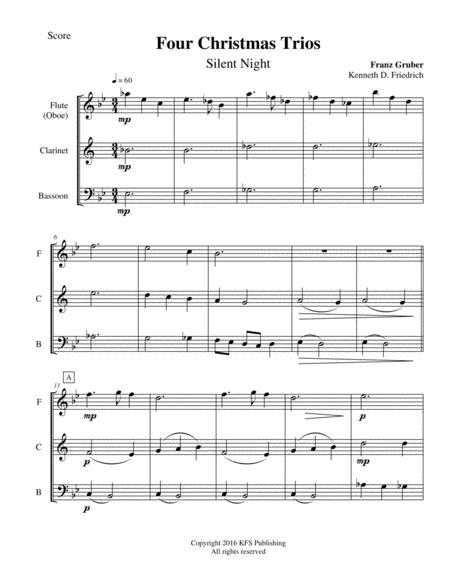 Four Christmas Trios - woodwind trio