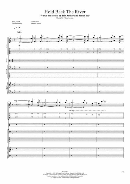 Download Hold Back The River Sheet Music By James Bay