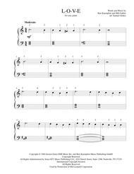 L-O-V-E - for easy piano