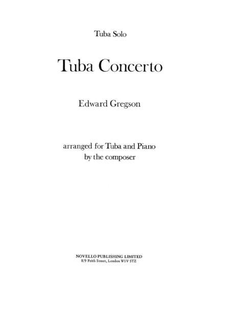 Tuba Concerto - Edward Gregson and Piano Accompanament