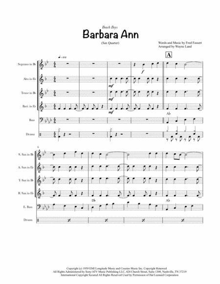 Barbara Ann (Sax Quartet)