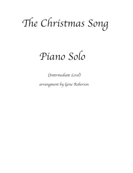 The Christmas Song Easy Piano(Chestnuts Roasting On An Open Fire)