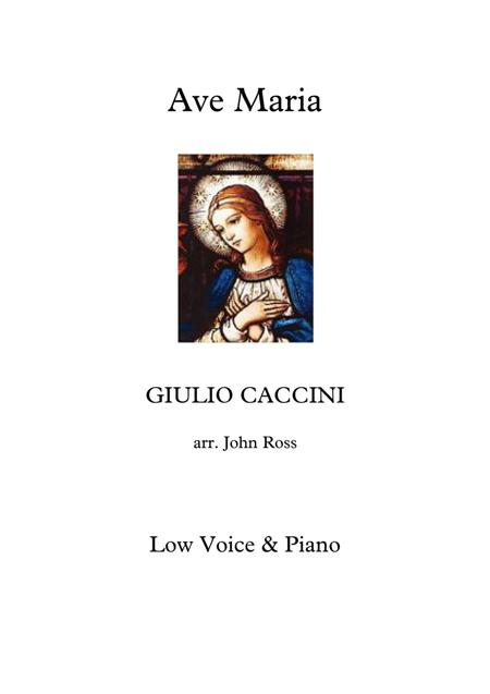 Ave Maria (Low voice, Piano)