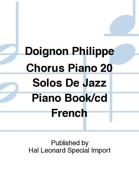 Doignon Philippe Chorus Piano 20 Solos De Jazz Piano Book/cd French