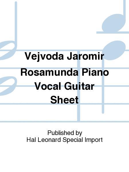Vejvoda Jaromir Rosamunda Piano Vocal Guitar Sheet