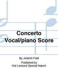 Concerto Vocal/piano Score