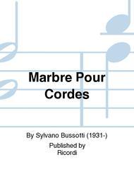 Marbre Pour Cordes