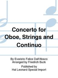 Concerto for Oboe, Strings and Continuo