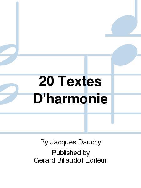20 Textes D'Harmonie