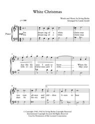 Download White Christmas For Beginner Piano Sheet Music By