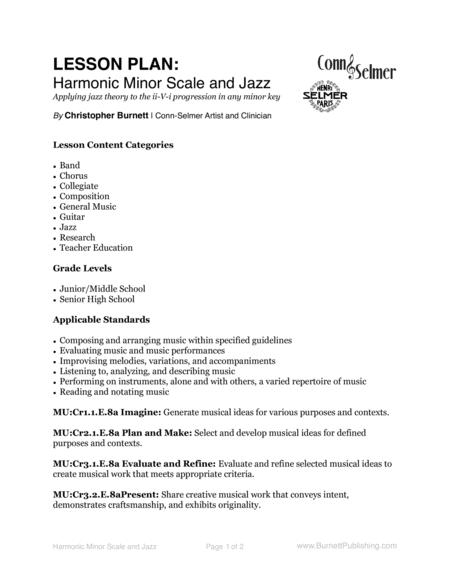 Harmonic Minor Scale and Jazz - Applying jazz theory to the ii-V-i progression in any minor key