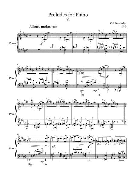 Preludes for Piano - V.