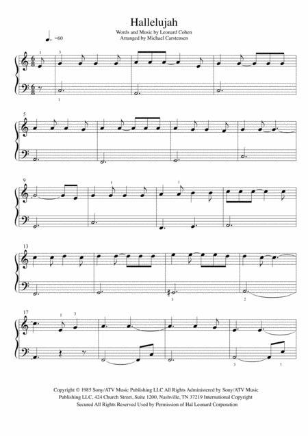 Download Hallelujah Piano Tutorial Easy Sheet Music By Leonard