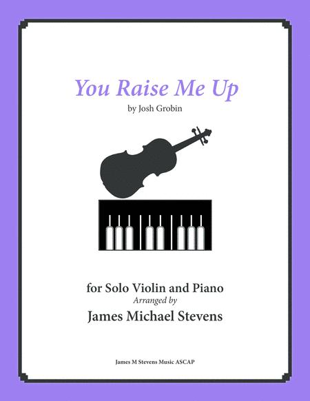 Download You Raise Me Up - Solo Violin & Piano Sheet Music By Josh