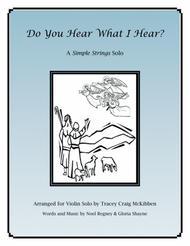 Do You Hear What I Hear for Violin Solo