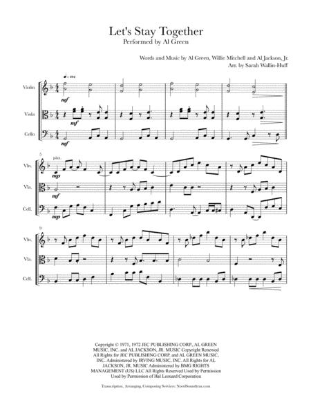 Let's Stay Together (for String Trio, with featured Viola Solo)