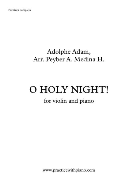 O HOLY NIGHT!, for violin and piano