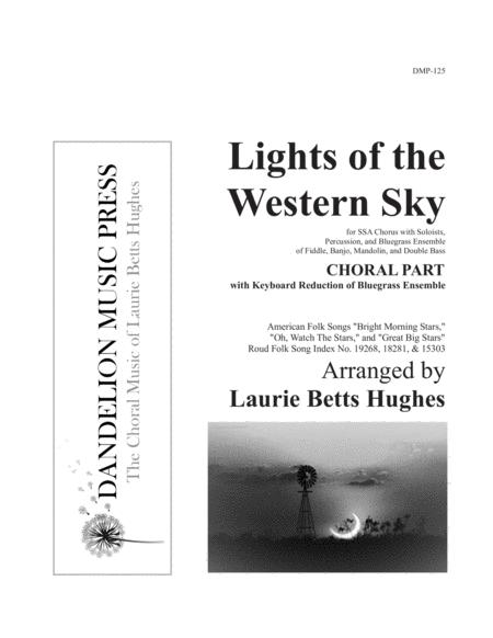 Lights of the Western Sky [SSA Choral Part with Keyboard Reduction]