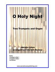 O Holy Night -  Two Trumpets and Organ