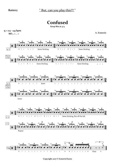 Confused - Snare Drum - Percussion