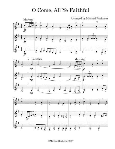 O Come All Ye Faithful - Trumpet Trio