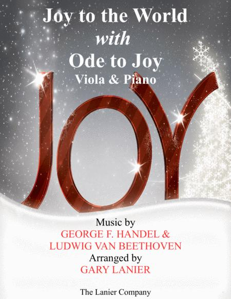 JOY TO THE WORLD with ODE TO JOY (Viola with Piano & Score/Part)