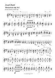 Menuet from String Quartet op.76 no.1