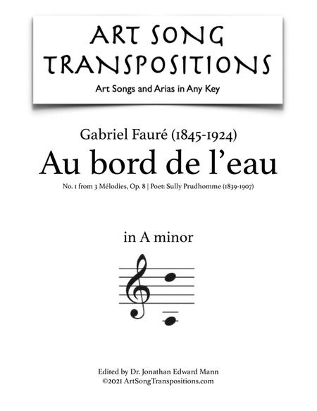 Au bord de l'eau, Op. 8 no. 1 (A minor)