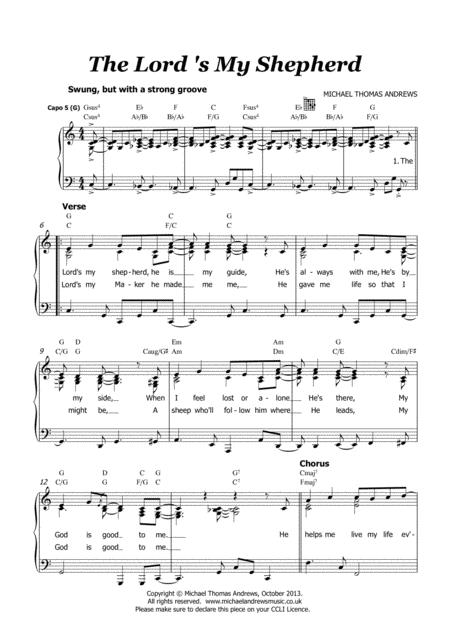 The Lord 039 S My Shepherd Psalm 23 All Age Children 039 S Worship Song By Michael Thomas Andrews Digital Sheet Music For Piano Vocal Chords Choir Unison Download Print S0 272233 From Michael Thomas Andrews Self Published At