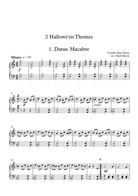 saint saens danse macabre for piano solo intermediate level