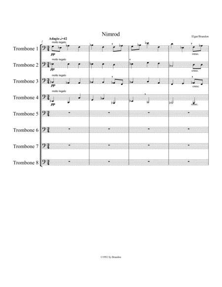 Nimrod from Enigma Variations for 8 Trombones