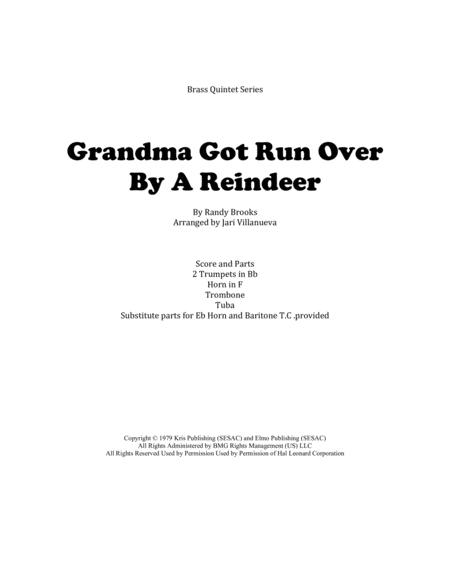 Grandma Got Run Over By A Reindeer for Brass Quintet
