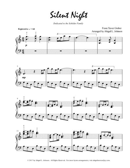 Download Silent Night Expressive Piano Solo Sheet Music By Franz