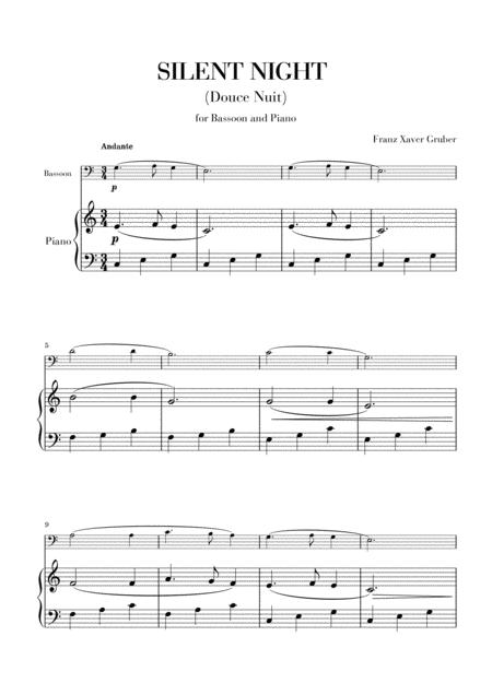Download Silent Night For Bassoon And Piano Sheet Music By Franz