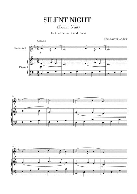 Silent Night (for Clarinet in Bb and Piano)