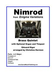 Nimrod from Enigma Variations in C Major for Brass Quintet and Optional Organ and Timpani
