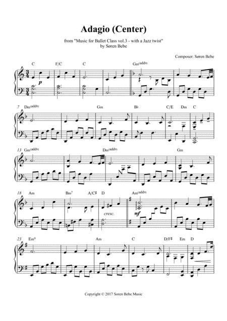 Adagio (center) - Sheet Music for Ballet Class - from