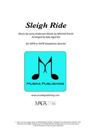 Sleigh Ride - for Saxophone Quartet