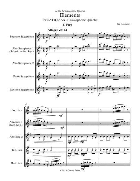 Elements for Saxophone Quartet