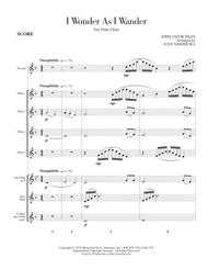I Wonder As I Wander for Flute Choir