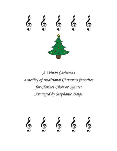 A Windy Christmas for Clarinet Choir or Quintet