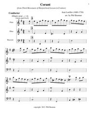Corant - Trio-Flute-Oboe-Bassoon