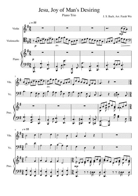 Jesu, Joy of Man's Desiring (Piano Trio)