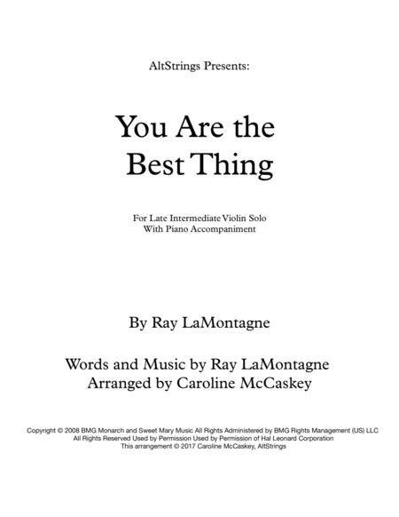 You Are The Best Thing - Violin Solo with Piano Accompaniment