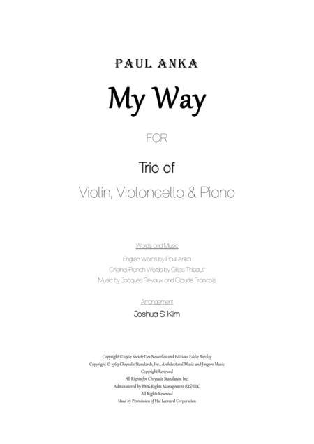 My Way for Trio (violin, cello & piano)